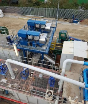Dual Centrifuge System & Flocculation Unit For Geothermal Well Drilling Project